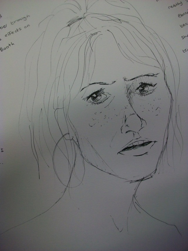 A made up picture of Amber made from imagination showing a mood
