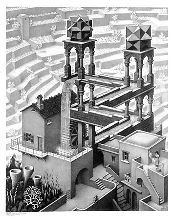 This is called Waterfall by MC Escher, you don't actually see the manipulation it this image until your eyes start to move through it