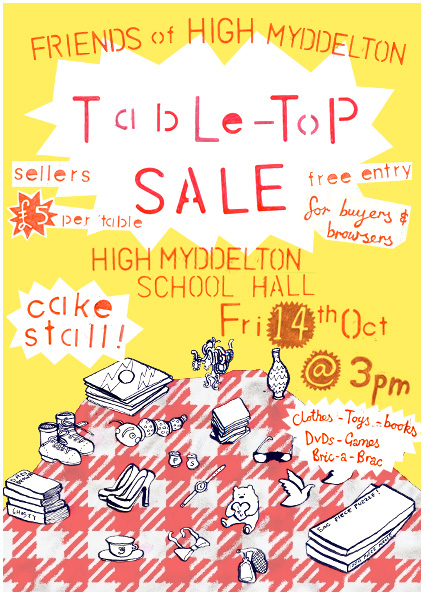 table top sale poster template